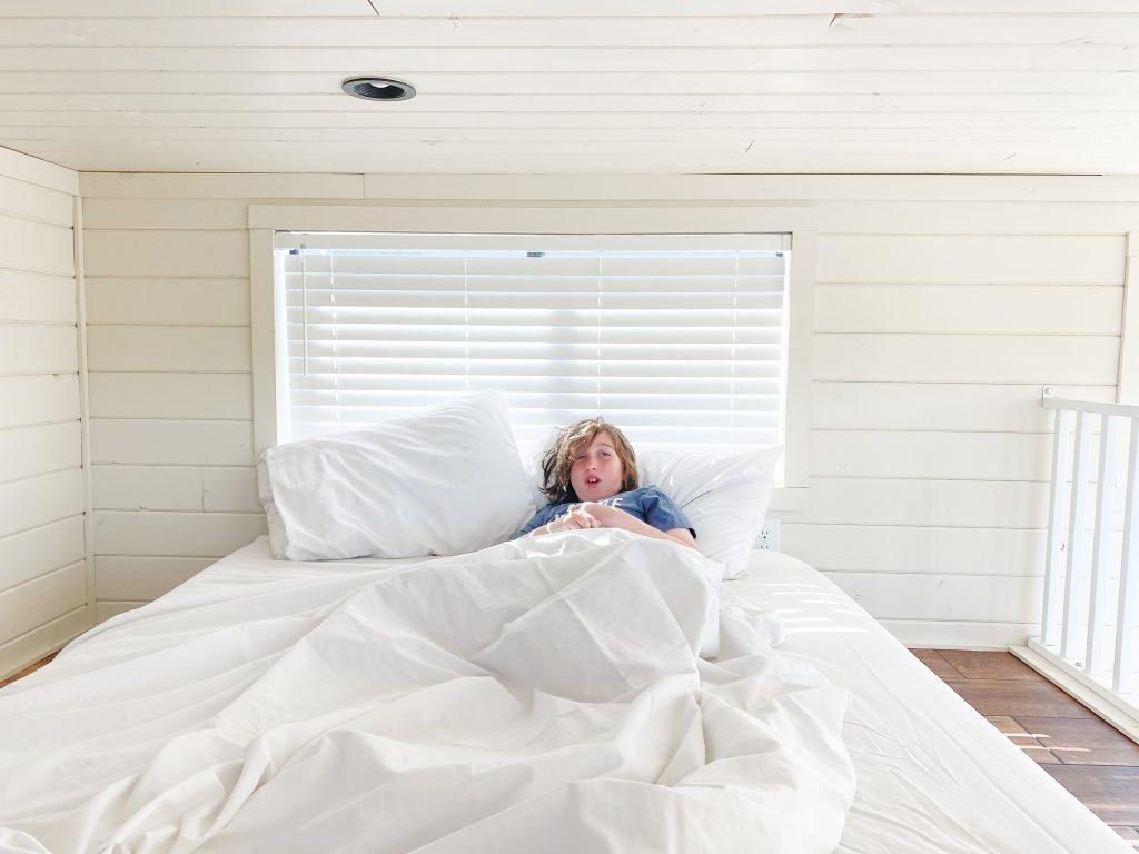 henri in bed