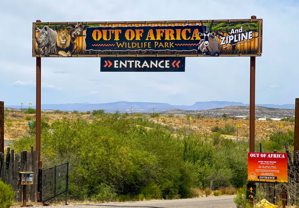 Out of Africa sign