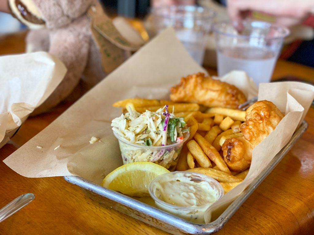 Fish and chips at Mitch's seafood