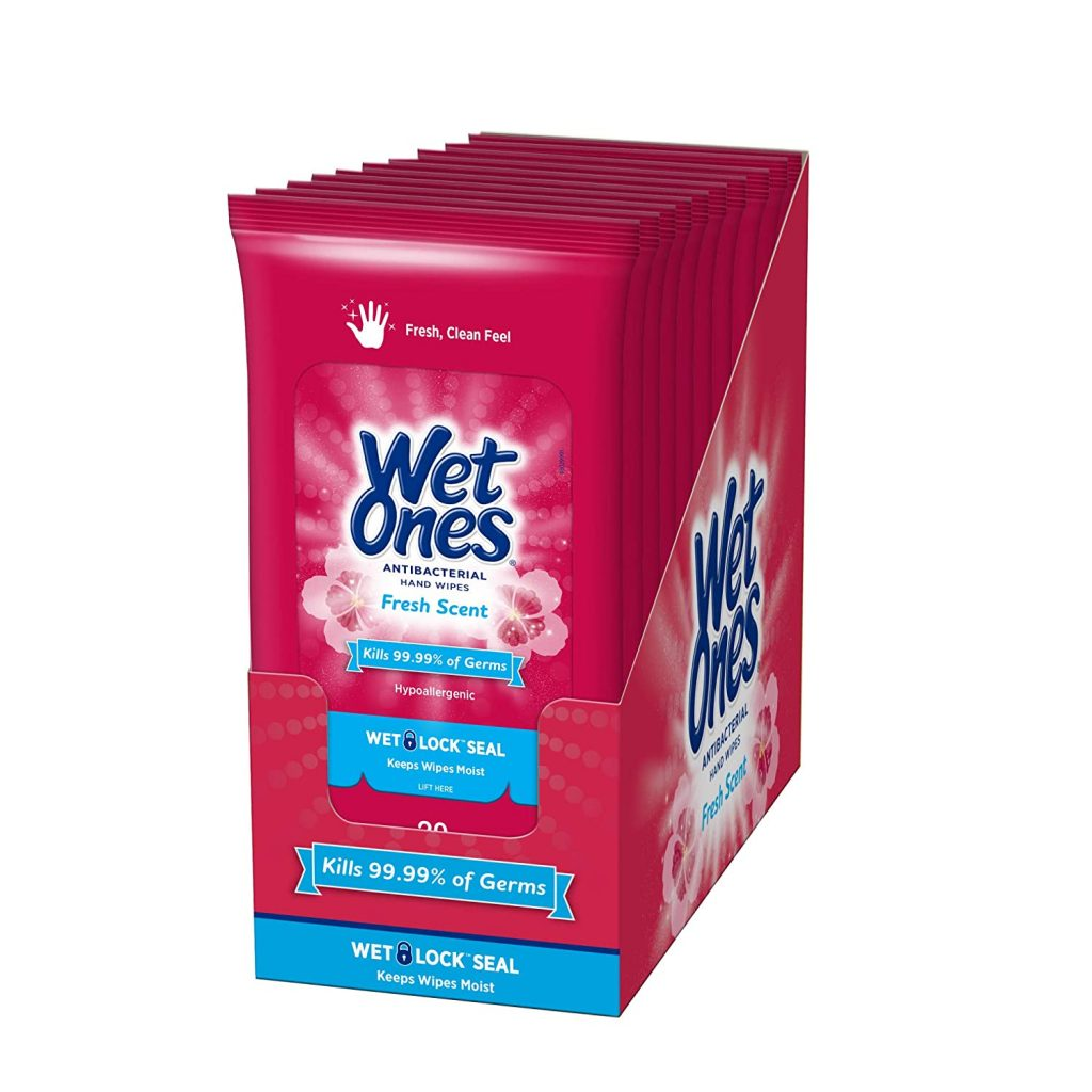 travel wipes in a box