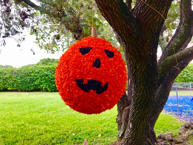 How to Make a DIY Halloween Pumpkin Piñata