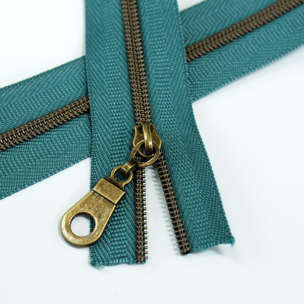 3-Nylon-Coil-Zipper-blue-cork-spruce-with-bronze-teeth