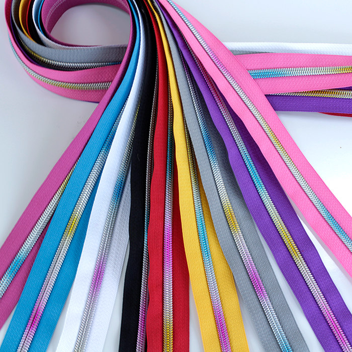 Zippers by the Yard with rainbow coil 2