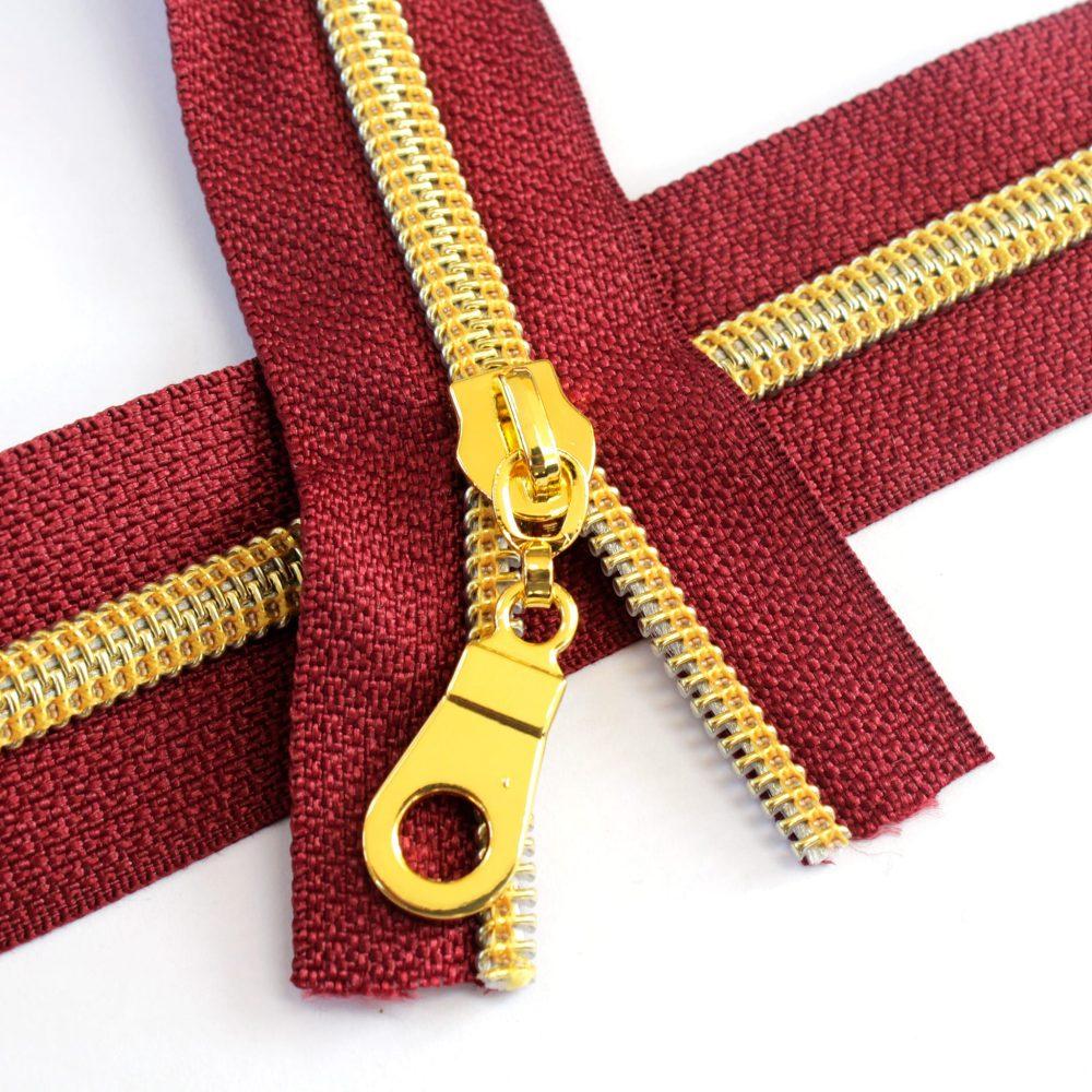 5-Nylon-Coil-Zipper-wine-with-gold-teeth