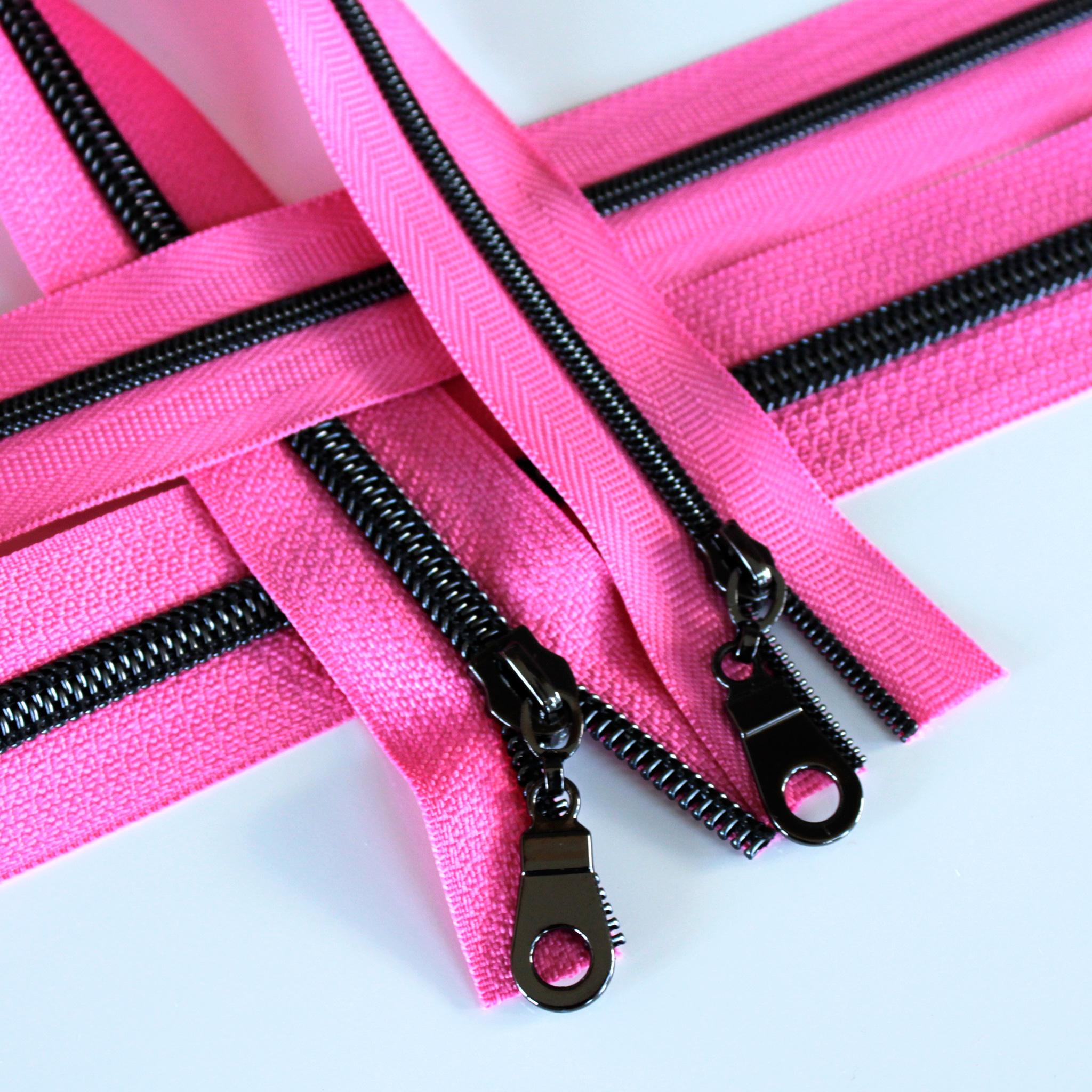 Princess Pink Zipper With Gunmetal Coil