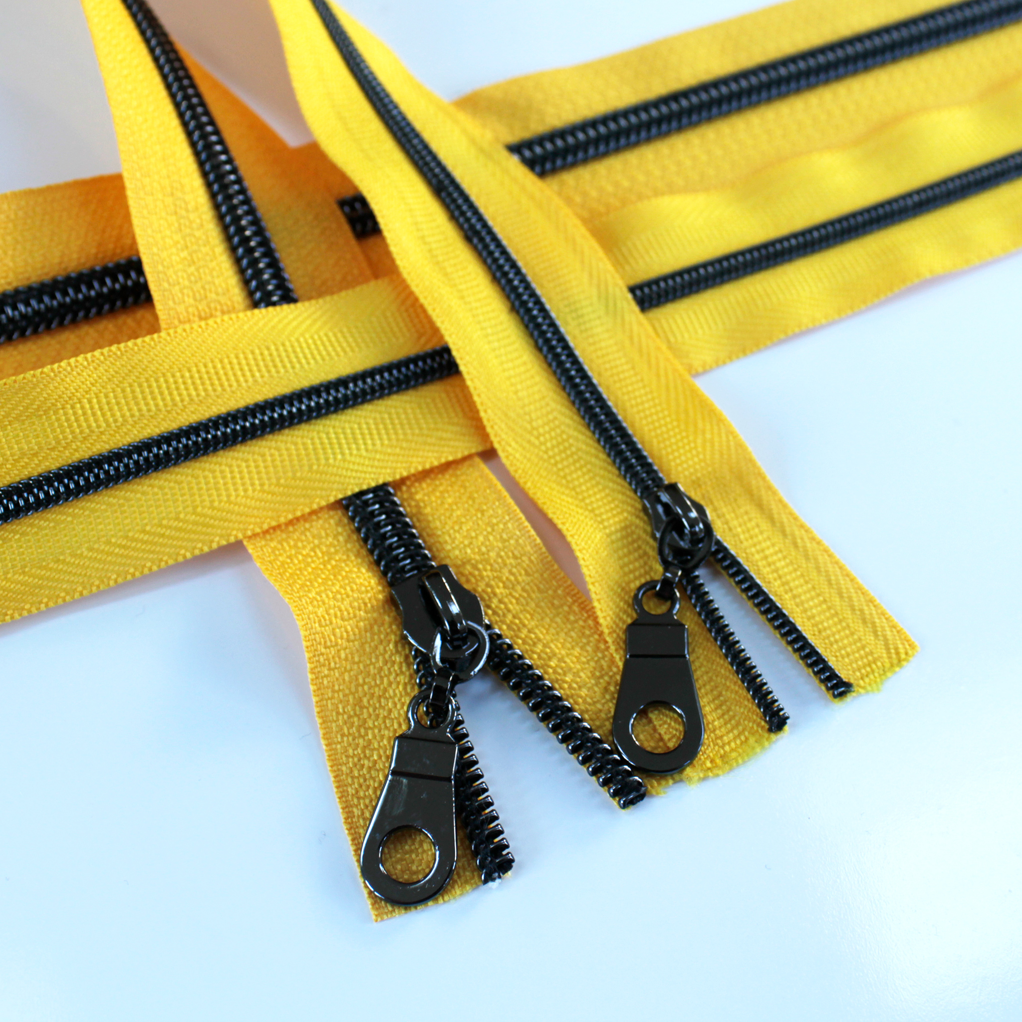 Sunflower Yellow Zipper With Gunmetal Coil