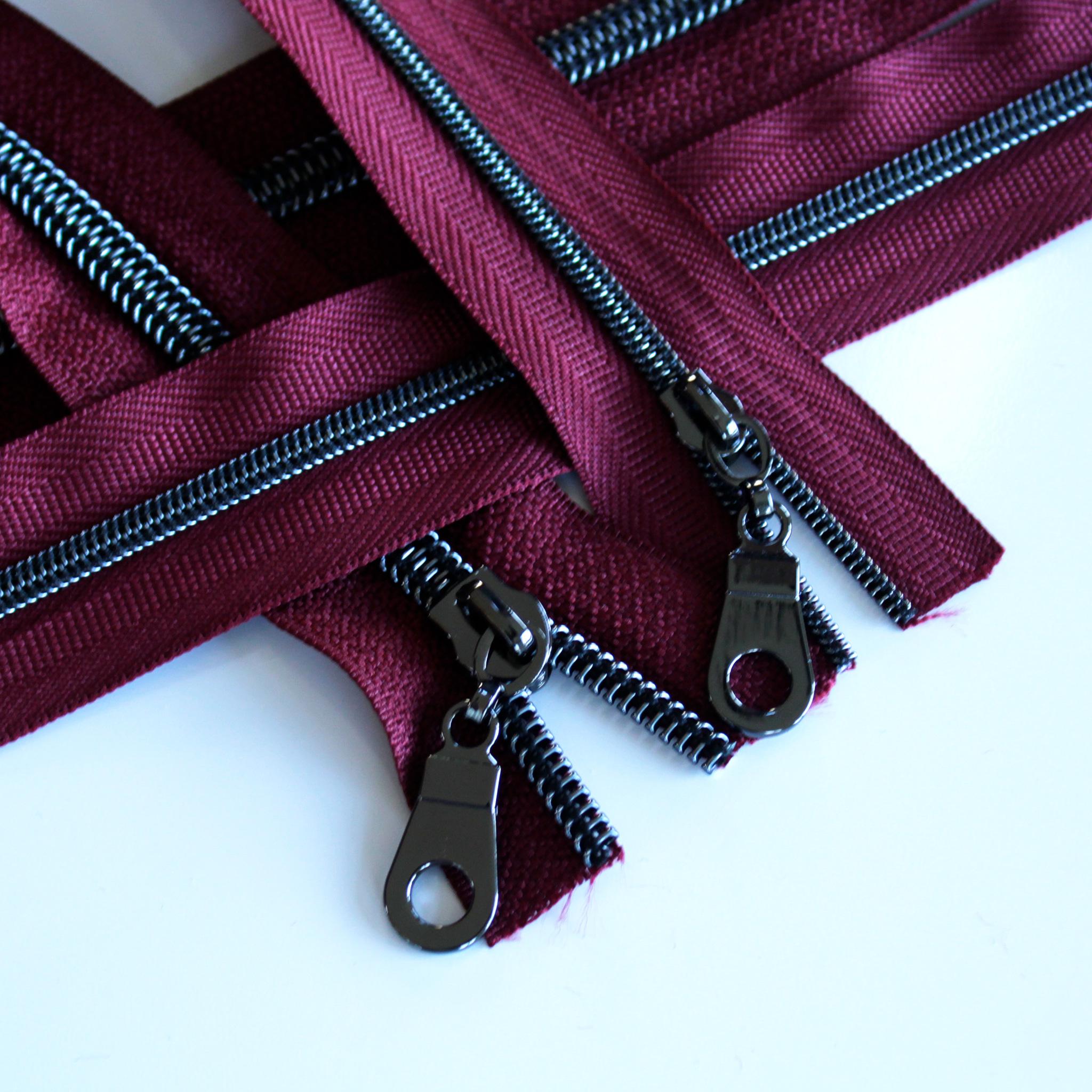 #5 Wine Zipper With Gunmetal Coil
