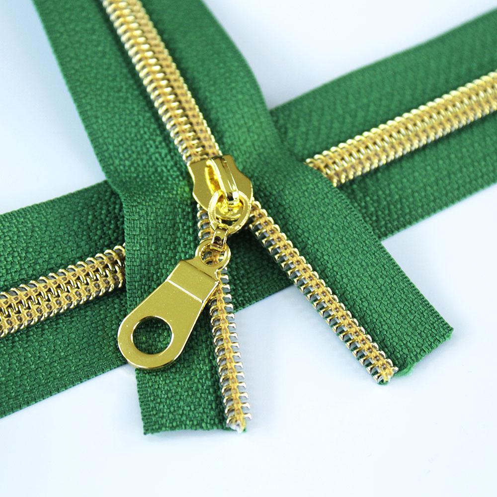 5-Nylon-Coil-Zipper-green-with-gold-teeth