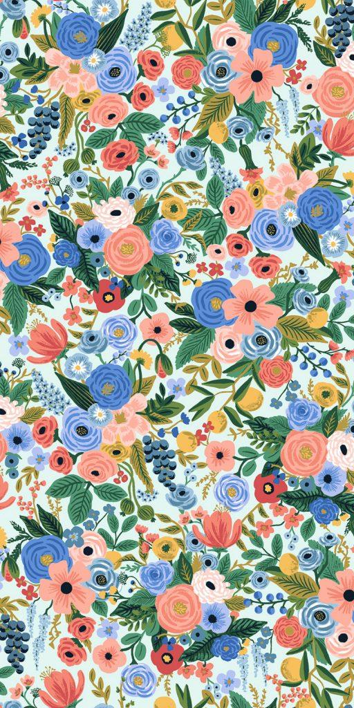 Wildwood – Petite Garden Party – Blue Fabric