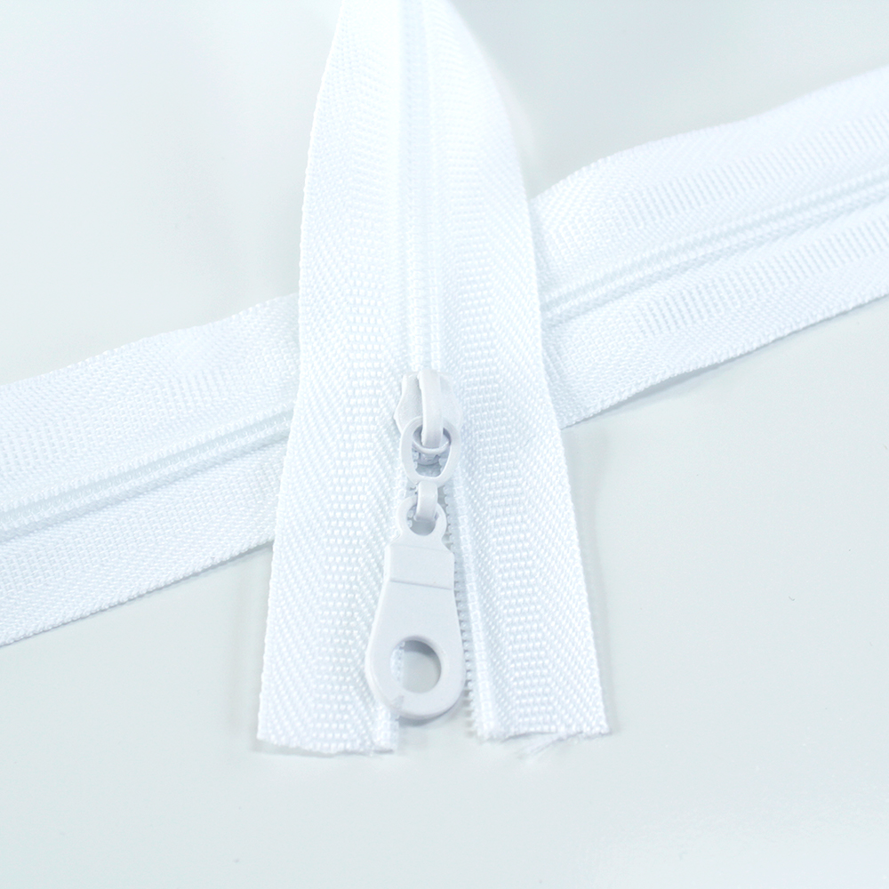 #3 white zipper