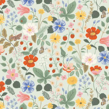 Strawberry Fields - Mint Fabric