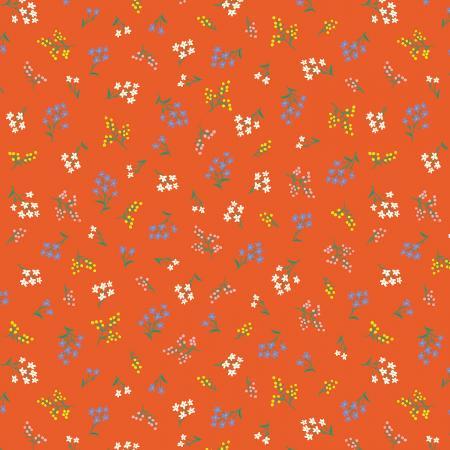 Strawberry Fields - Petites Fleurs - Rifle Red Fabric