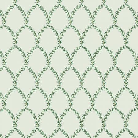 Strawberry Fields - Laurel - Mint Fabric