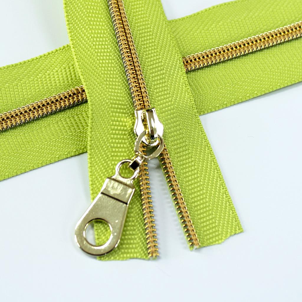 #3-apple-green-zipper-gold-coil