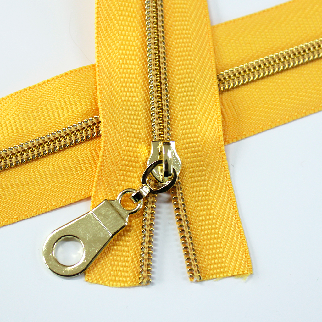#3-sunflower-yellow-zipper-gold-coil
