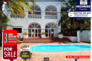 3 bedroom Houses for sale bofa beach  Bofa Kilifi