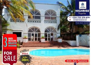 3 bedroom Houses for sale Kilifi, Bofa Beach Bofa Beach Kilifi