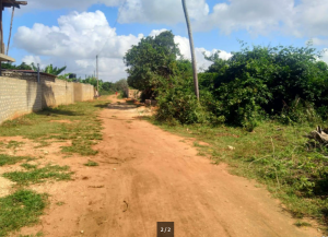 Land for sale beach road Diani Msambweni Kwale