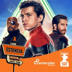Cine Estância Drive Park Homem Aranha Longe de Casa