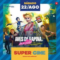 Super Cine Espaço das Américas drive in com Aves de Rapina