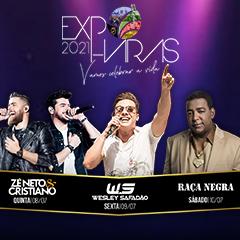 Passaporte Expo Haras apresenta Zé Neto & Cristiano, Wesley Safadão e Raça Negra