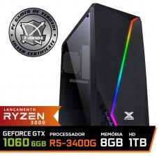 Pc Gamer T-Moba Super Ultimate LVL-6 AMD Ryzen 5 3400G / GeForce GTX 1060 6GB / DDR4 8GB / HD 1TB / 500W / RZ3