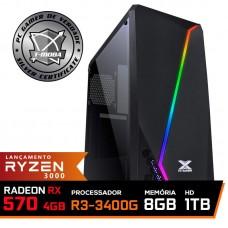 Pc Gamer T-Moba Super Ultimate LVL-3 AMD Ryzen 5 3400G / Radeon Rx 570 4GB / DDR4 8GB / HD 1TB / 500W / RZ3