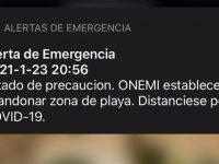 Alerta de tsunami llegó a teléfonos celulares a lo largo de todo el país.