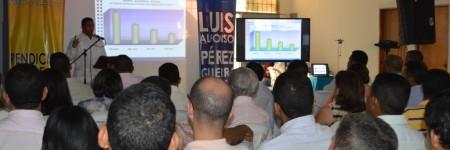 Foto de Rendición de cuentas realizadas por el rector Luis Alfonso Perez Guerra