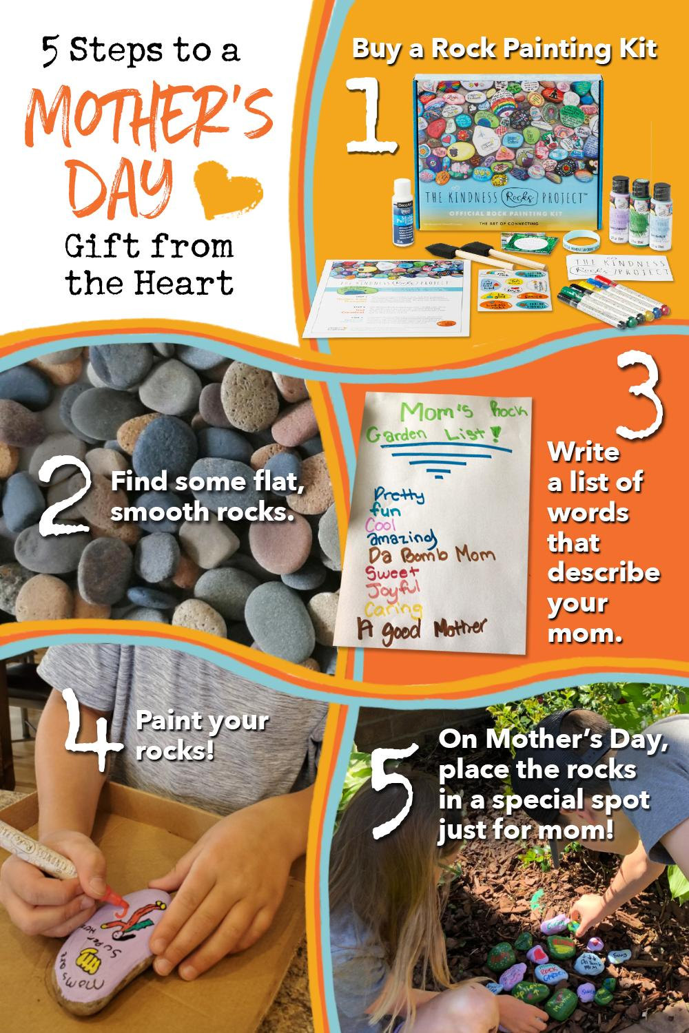Kindness Rock Garden for Mother's Day