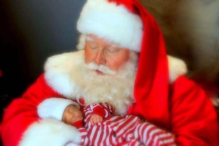 Santa with baby boy