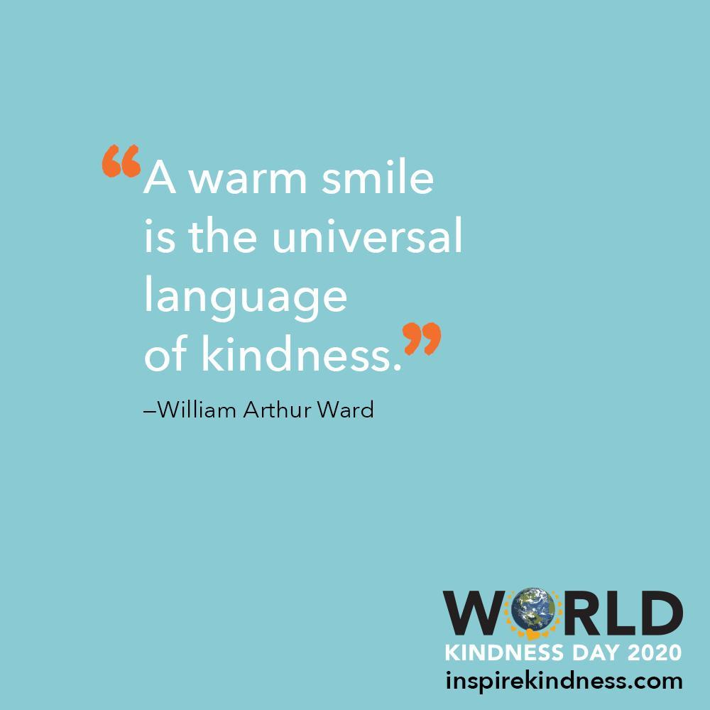 warm smile world kindness day
