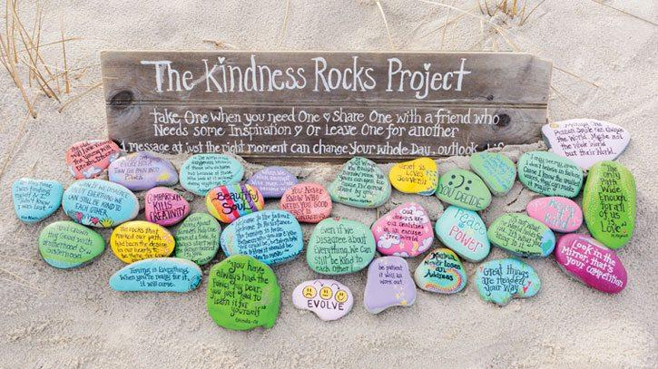 The Kindness Rocks Project Garden