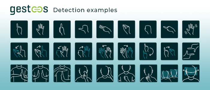 Gestoos Detection examples