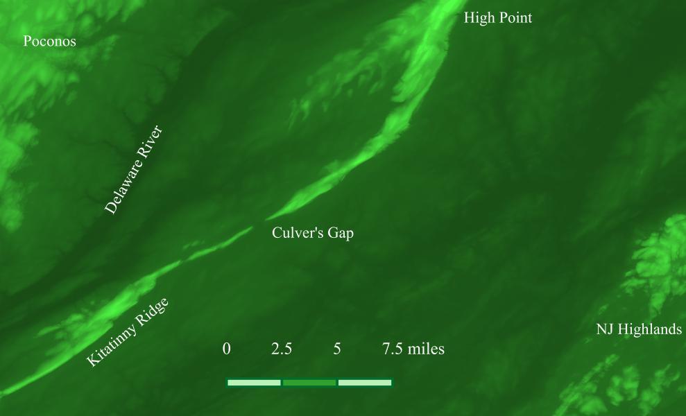 Culver's Gap Area Map