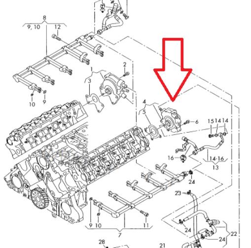 Details about Fuel Pump Kit Repair Kit low pressure pump fuel system VW  TOUAREG PHAETON 5 0TDI