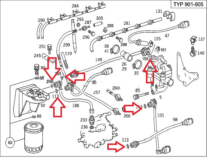 Mercedes EO fuel pipe o-rings Sprinter 2.0CDI 2.2CDI 2.7CDI Vito Viano CDI  8pc | eBayeBay