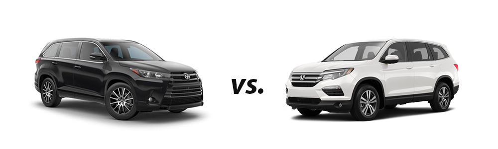 Pilot Vs Highlander >> 2018 Toyota Highlander Vs 2018 Honda Pilot
