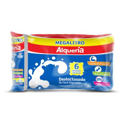 Leche Deslactosada Alqueria 1100 Ml X 6 Unds