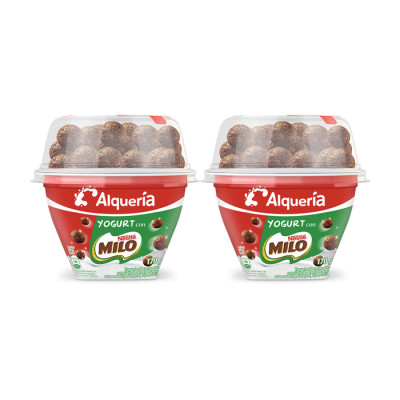Yogurt Cuchareable Alqueria Cereal Milo 170 Grs X 4 Unds
