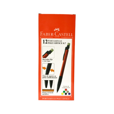 Portaminas Faber Castell Poly Office 0.7 X 12 Unds