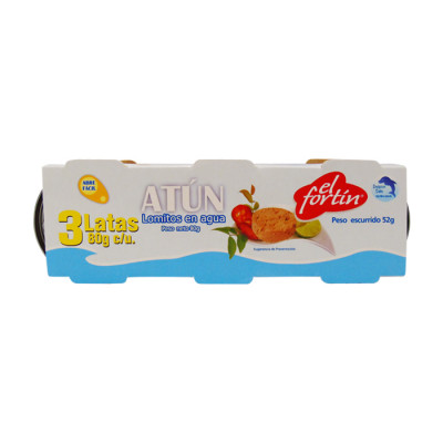 Atun Fortin Lomo Agua Three Pack 240 Grs
