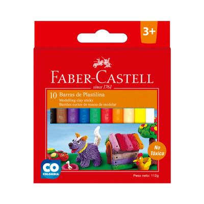 Plastilina Barra Faber Castell Surtida X 10 Unds