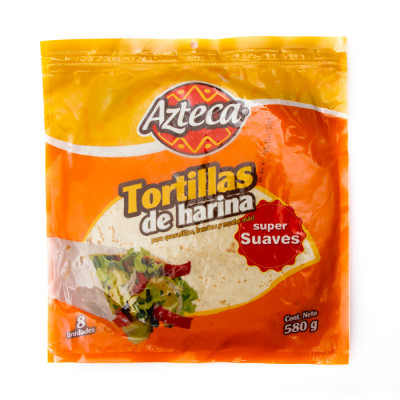 Tortillas  Super Suaves Azteca X 8 Unds X 580 Grs