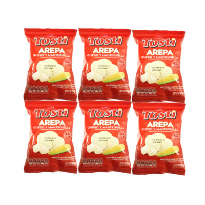 Tosti Arepa 12 X 28 Grs