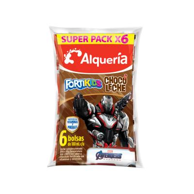Chocoleche Alqueria Fortikids 180 Ml X 6 Unds