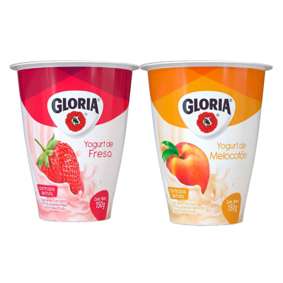 Yogurt Gloria Surtido Vaso 150 Grs X 5 Unds