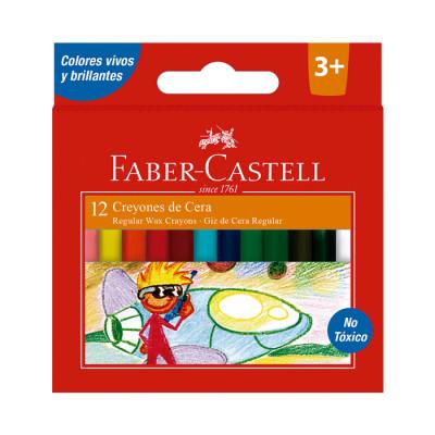 Creyones De Cera Faber Castell X 12 Unds