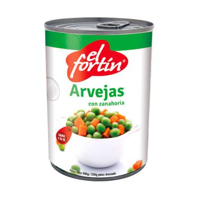 Arveja Con Zanahoria El Fortin X 580 Grs