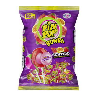 Chupeta Pin Pop Bumba Surtido X 24 Unds